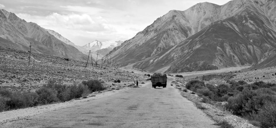 """In den Hochpamir – Der """"Pamir Highway"""" durch Ghund."""